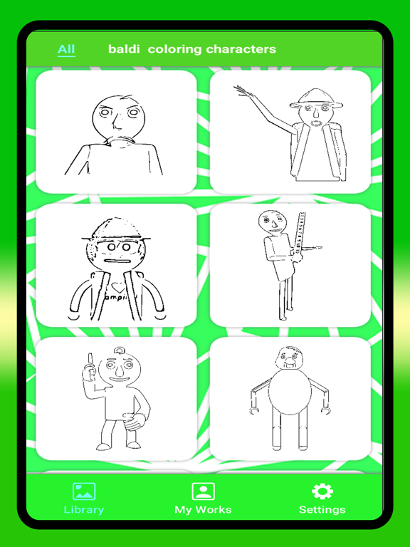 Happy baldi : Coloring Mod ! на iPad