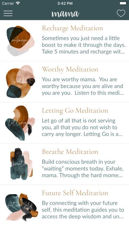 mama—daily self-care for moms screenshot-5