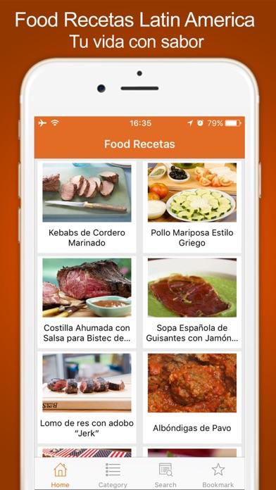 Food Recetas Latin America screenshot one