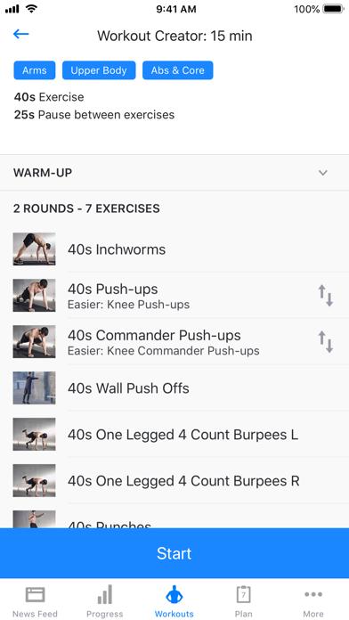 Runtastic Results Home Workout Screenshot