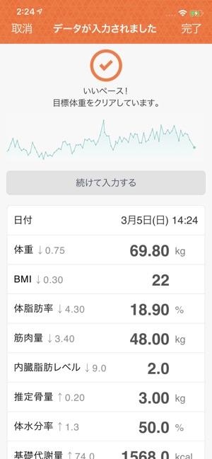 タニタの健康管理アプリ ヘルスプラネット Screenshot