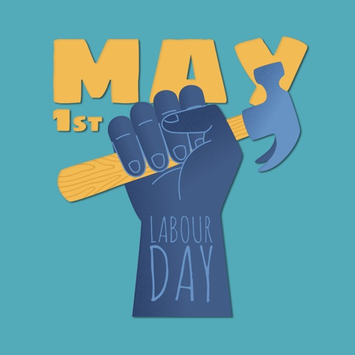 May Labour Day Stickers