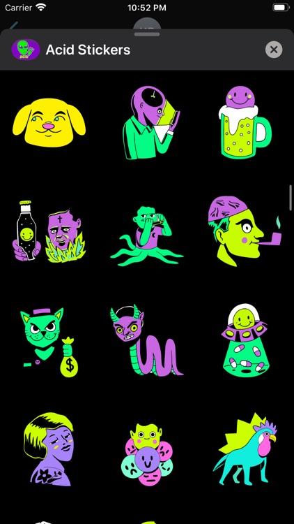 Acid Stickers: Trippy Fun screenshot-5