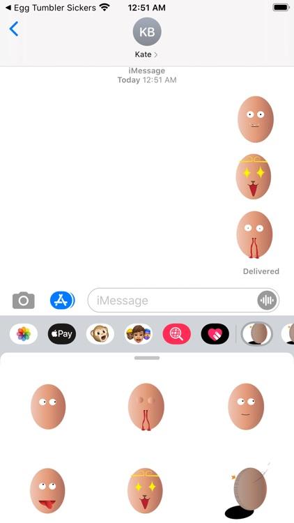 Egg Tumbler Sickers