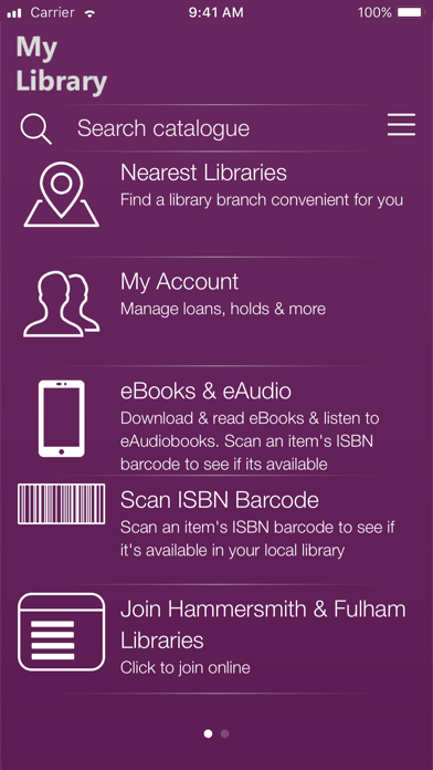 LBHF, RBKC & WCC Libraries screenshot one