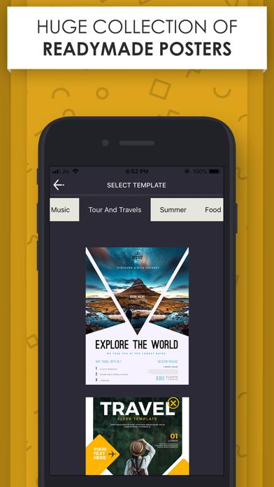 Poster Maker - Flyer Designer. screenshot one