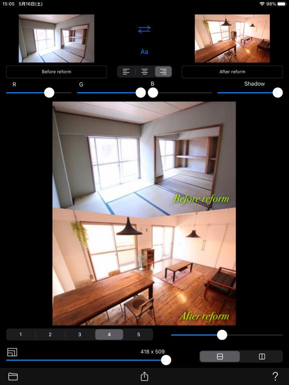 Before->After screenshot 10