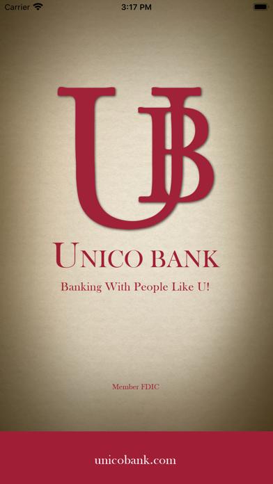 Unico Bank Mobile BankingScreenshot of 1