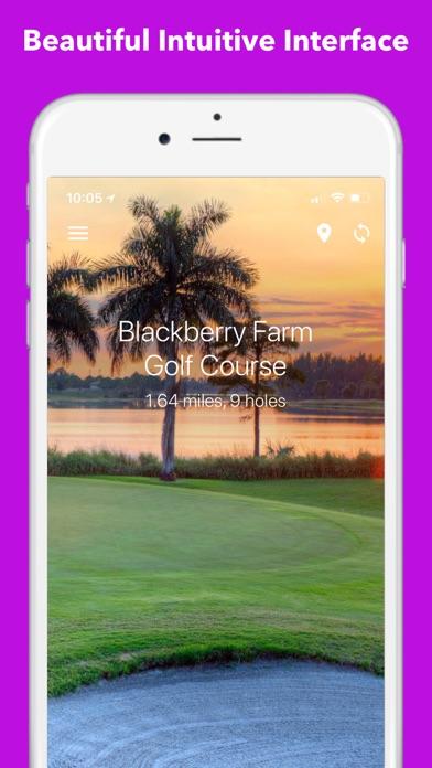 TrackMyGolf: Golf GPS free scorecard range finder screenshot