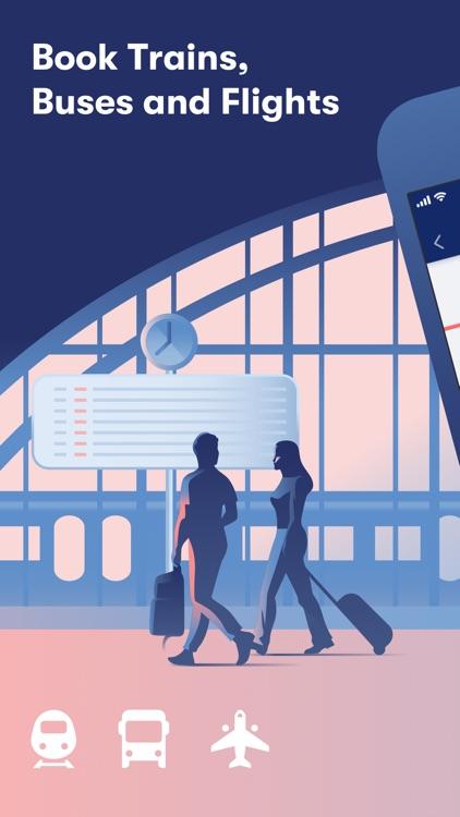 Omio: Train, Bus, Flight App screenshot-0