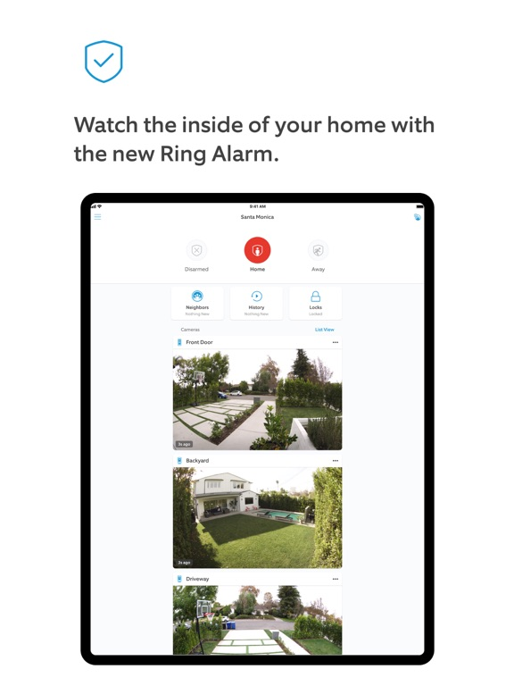 iPad Image of Ring - Always Home