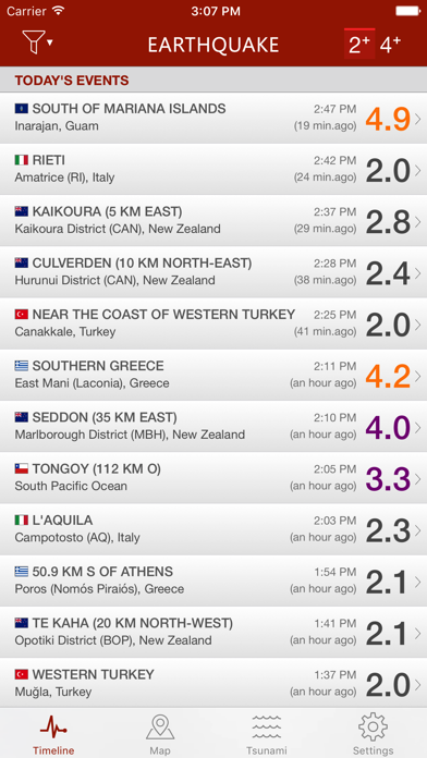 Earthquake - alerts and map Screenshot