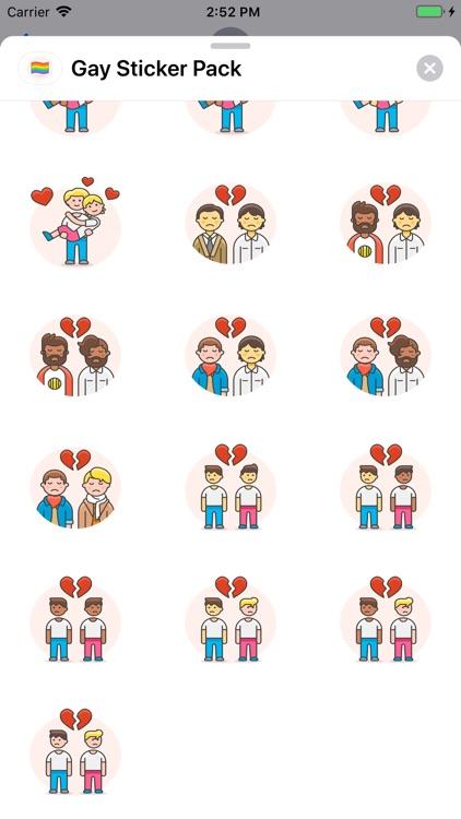 Gay Sticker Pack screenshot-3