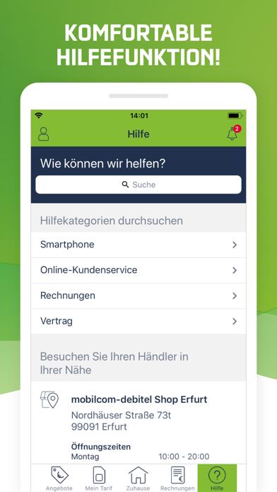 mein mobilcom debitel app report on mobile action app
