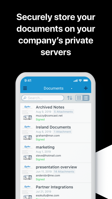 messages.download SignNow Private Cloud software