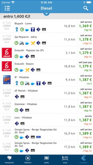 Prezzi Benzina - GPL e Metano iPhone