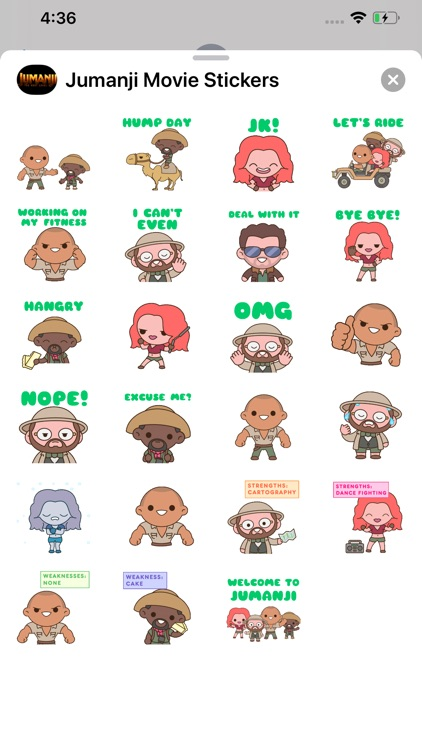 Jumanji Movie Stickers