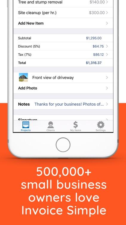 Invoice Simple, Estimate Maker screenshot-3