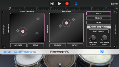 FilterMorph AUv3 Audio Plugin