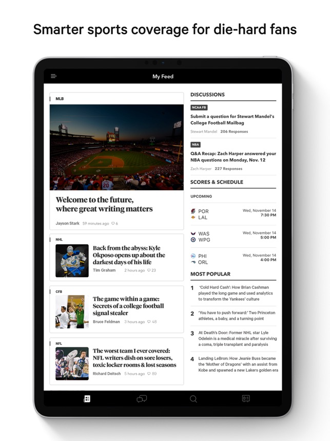 The Athletic: Sports Coverage on the App Store