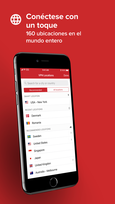 Screenshot for ExpressVPN: Proxy VPN Wi-Fi in Spain App Store