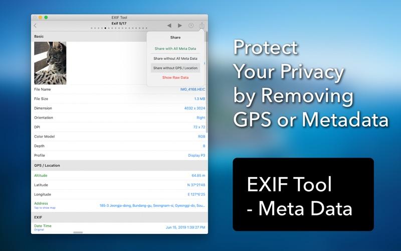 EXIF Tool - 元数据工具 for Mac