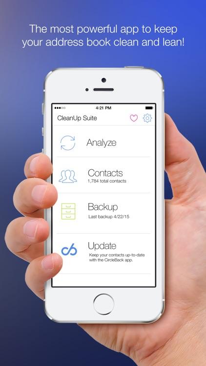 Cleanup Duplicate Contacts! screenshot-0