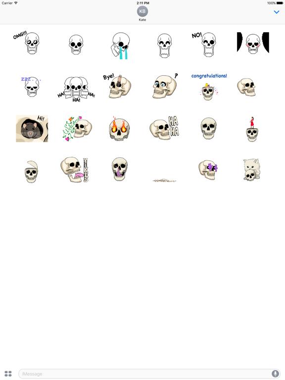 Animated Skull Emoji Sticker screenshot 5