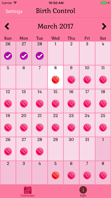 Birth Control Pill Reminder