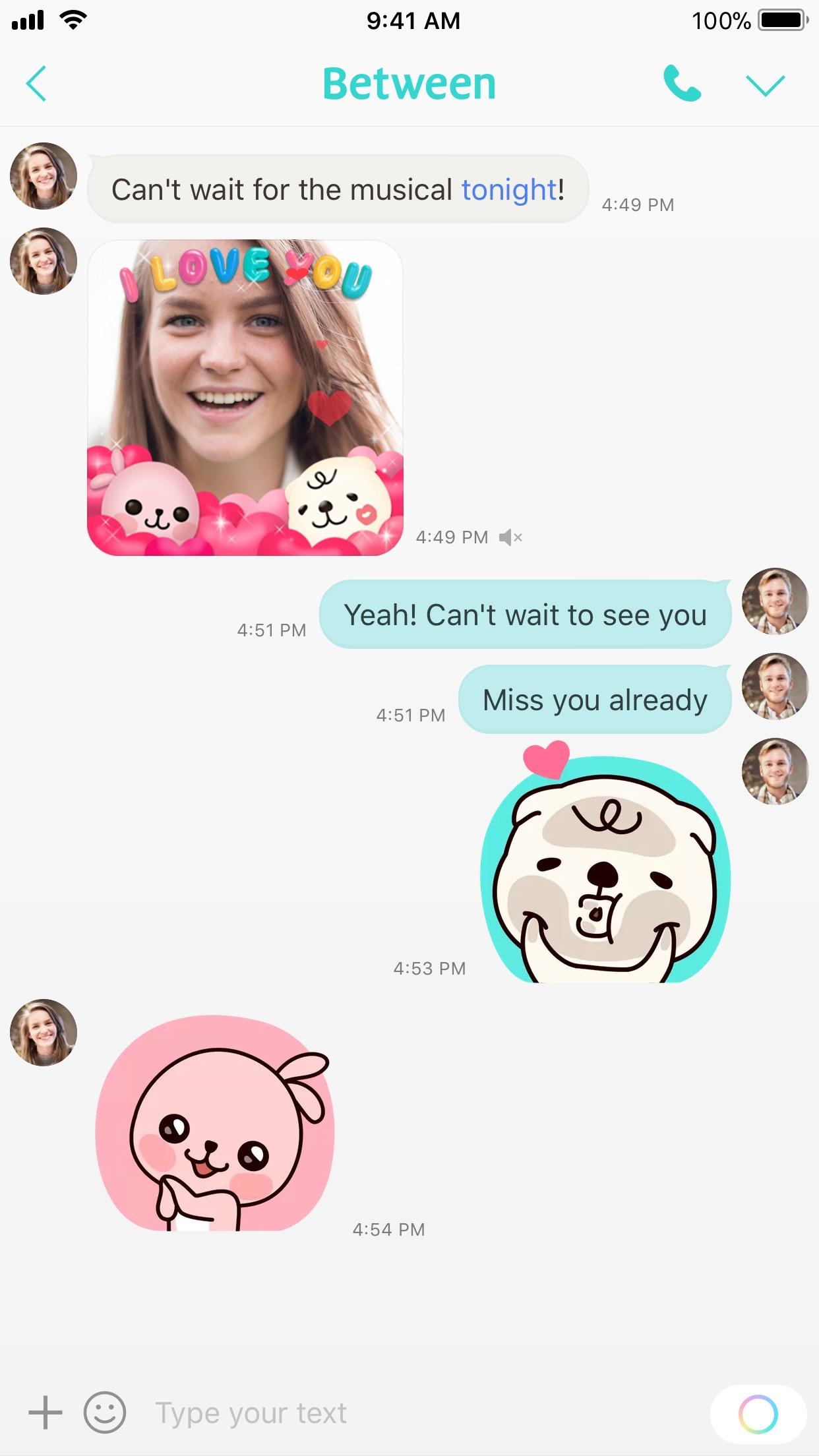 Between, The App Couples Love Screenshot