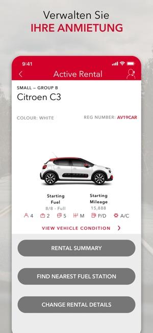 Avis Mietwagen Im App Store