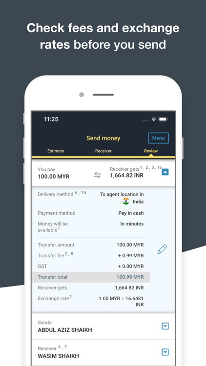 Money Transfer WesternUnion MY screenshot-3