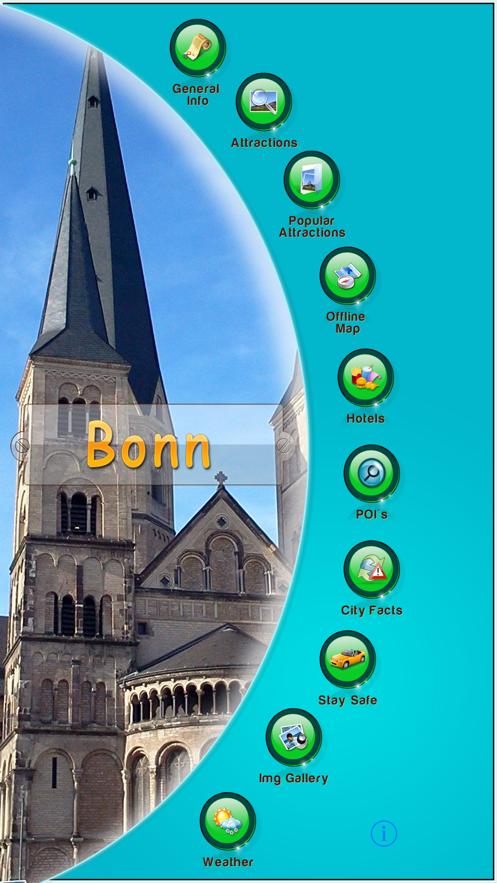 Bonn Offline Map Travel Guide App 截图