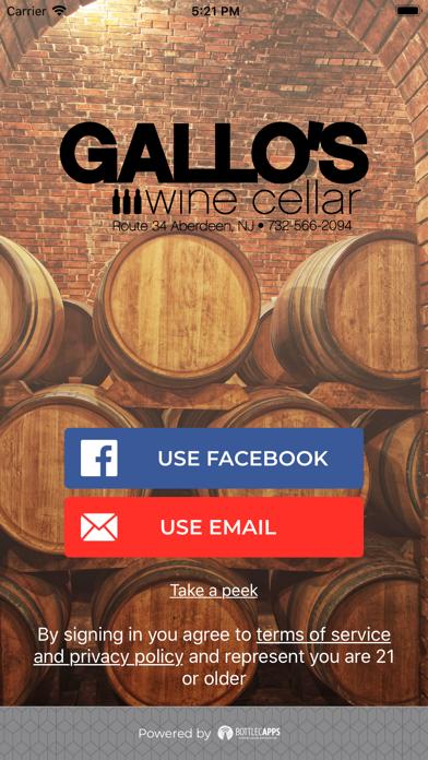 Gallo's Wine Cellar screenshot one