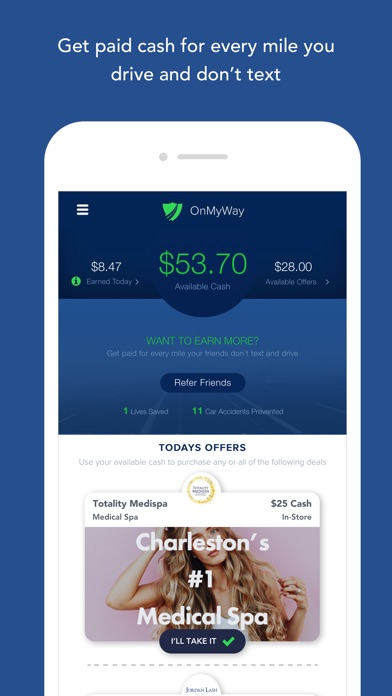 OnMyWay: Drive Safe, Get Paid screenshot 2