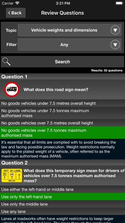 LGV Theory Test UK - Lorry screenshot-5
