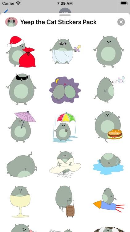 Yeep the Cat Stickers Pack screenshot-3