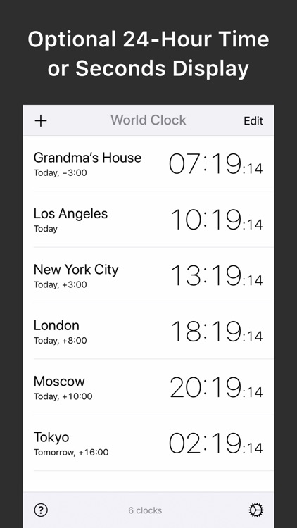 World Clock — Time Zone Widget screenshot-3