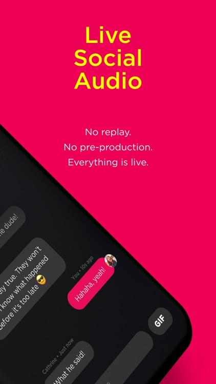 Popout-live social audio app
