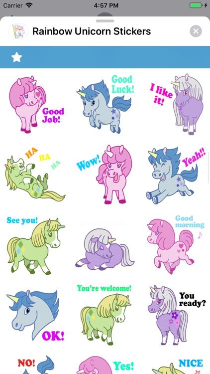 Rainbow Unicorn Stickers screenshot-4