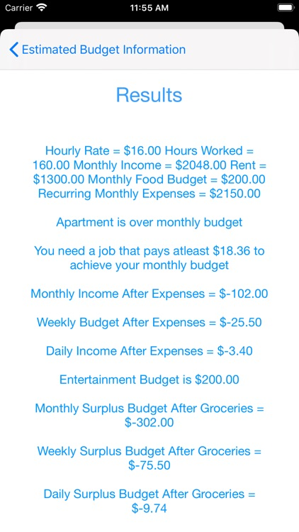 Simple Budget Estimator screenshot-6