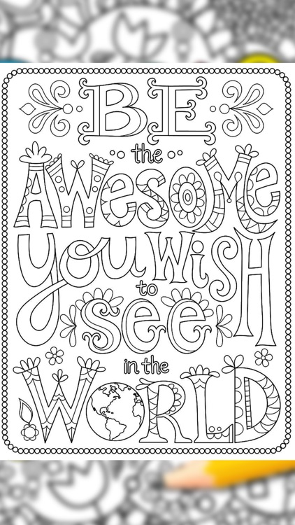 Quotes Coloring Pages screenshot-6