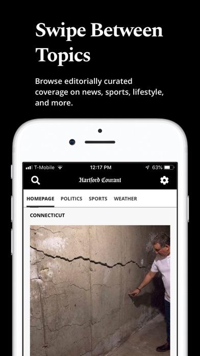 Hartford Courant review screenshots