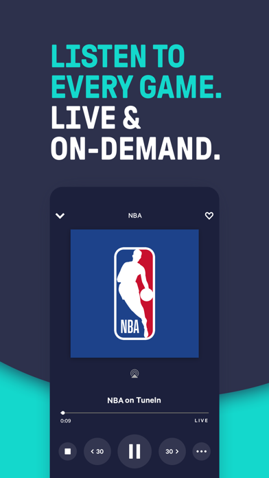 TuneIn - NBA Radio & Live News Screenshot