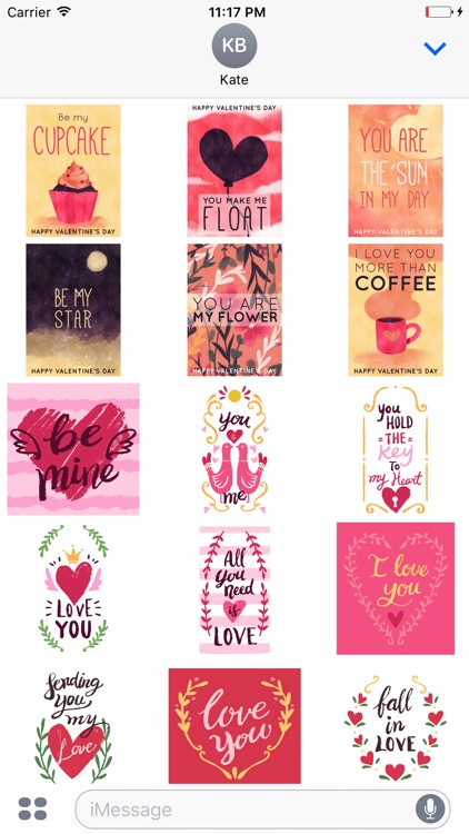 Valentines Hand Drawn Stickers