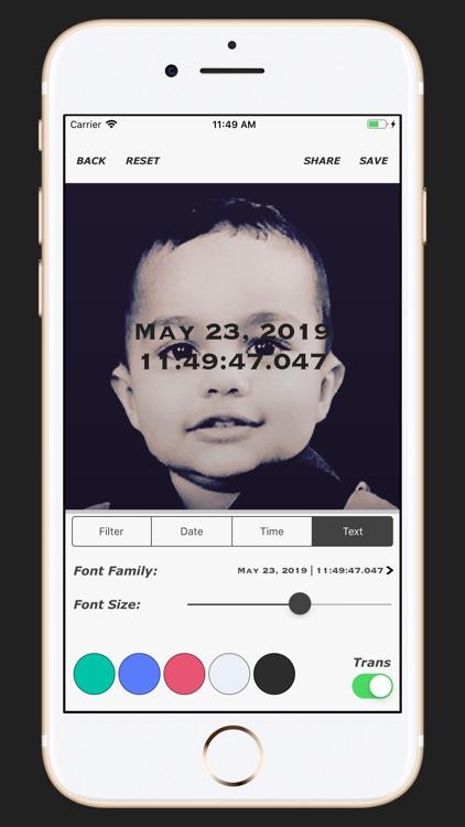 Timestamp on Memory Photos PRO