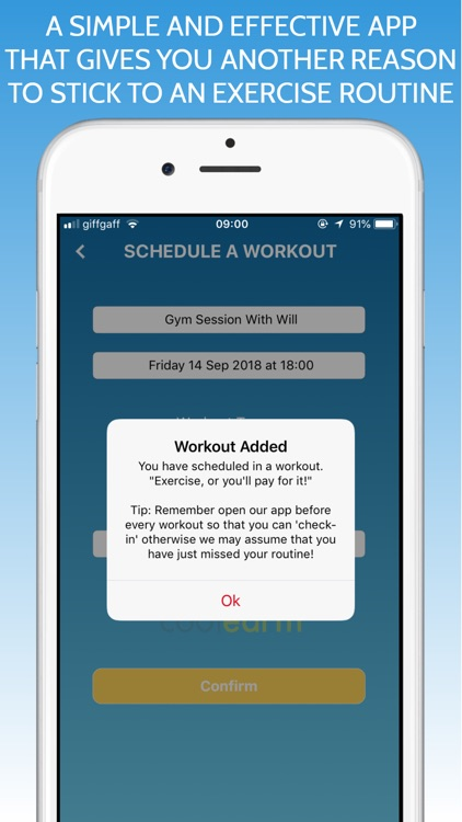 GYMorDONATE Workout Schedule