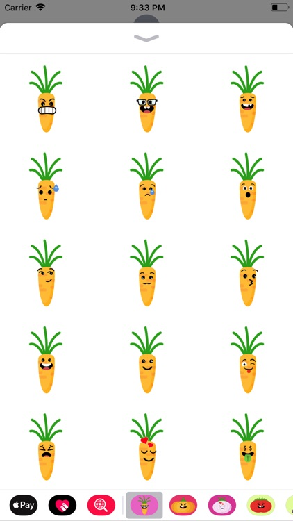 carot yellow emoji stickers