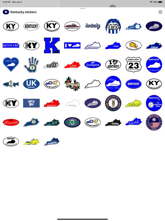 Kentucky emojis - USA stickers screenshot 5