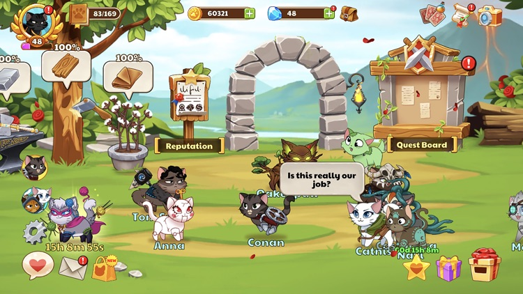 Castle Cats - Idle Hero RPG screenshot-4